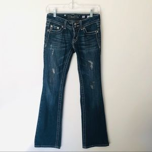 Miss Me Boot Cut Distressed Jeans Size 26